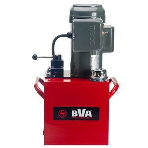 Electric pump with manual valve with 10 gal usable oil for 10 hp hydraulic motor