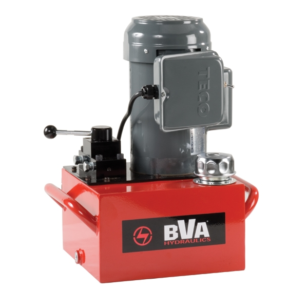 Electric Hydraulic Valve Kit : Electric pump with locking manual valve gal usable