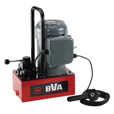BVA Hydraulics Electric Pumps with Pendant Switch for Single Acting Cylinders PE30W3N01A